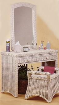 wicker furniture - vanity and bench #4379