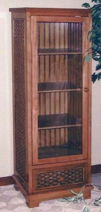 wicker furniture - curio cabinet #4284
