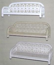 wicker furniture - single tier wall shelf #4550