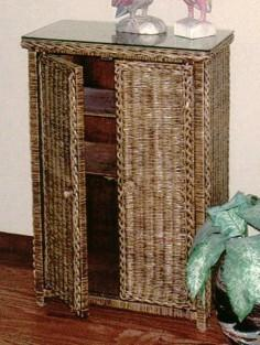 wicker storage cabinet #4082