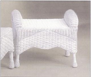 patio furniture - wicker ottoman #6210-9