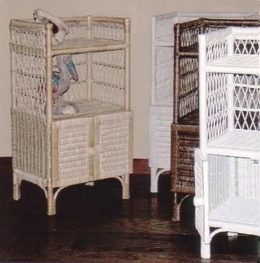 wicker furniture - towel cabinet #4377