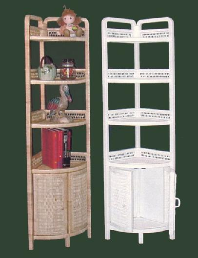 wicker furniture - corner stand #4120