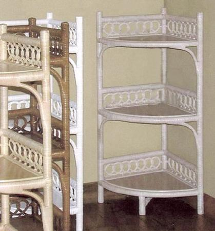 wicker furniture - corner shelf #4402