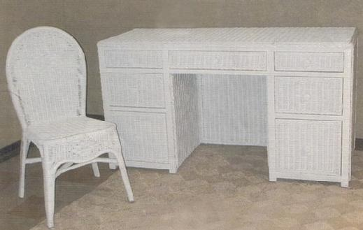 wicker furniture - desk #4852