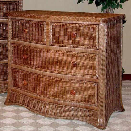 wicker bedroom furniture double triple dressers chests of drawers bed headboard. Black Bedroom Furniture Sets. Home Design Ideas