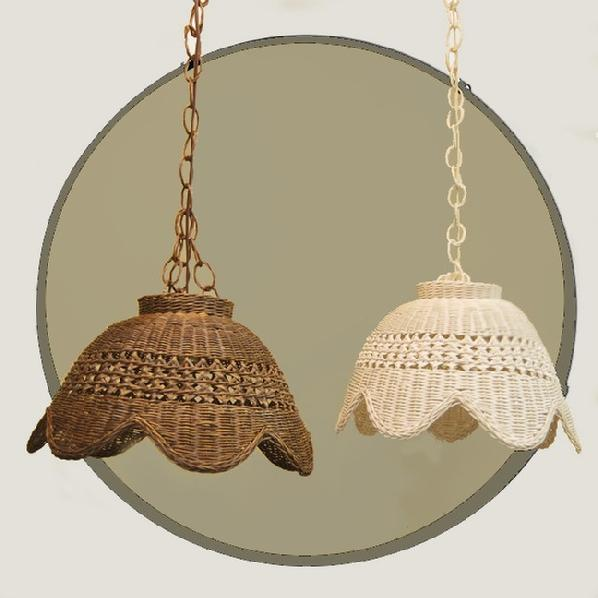 Wicker Org Wicker Swag Lamp Shade Rattan Ceiling Hanging