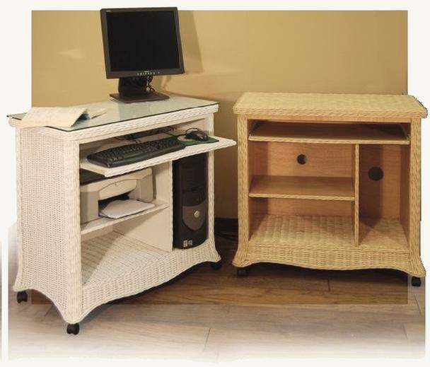 wicker furniture - computer cabinet #4733C