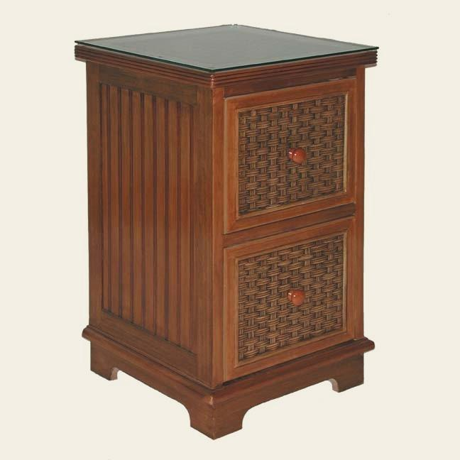 wicker office furniture - file cabinet #4284F