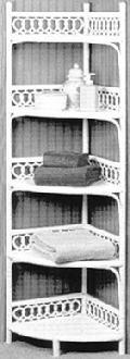 wicker furniture - corner floor shelf #4801