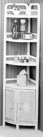 wicker furniture - corner stand #4120