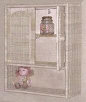 wicker furniture - bath wall cabinet #4703