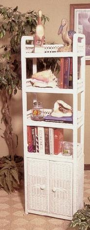 wicker furniture - tall shelf #4365