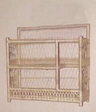 wicker furniture - wall shelf #4940