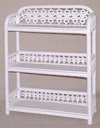 wicker furniture - three tier wall shelf #4550
