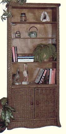 wicker furniture - bookcase #4790