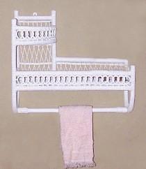 wicker furniture - wall shelf #4941