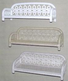 wicker furniture - single tier wall shelf #4550