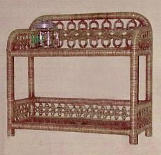 wicker furniture - two tier wall shelf #4550