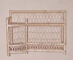 wicker furniture - wall shelf #4945