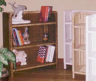 wicker furniture - bookshelf #4404