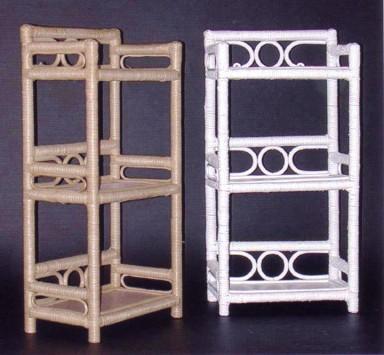 wicker furniture - three tier wall shelf #4201