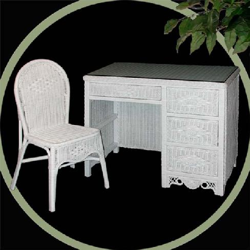 wicker furniture - desk & chair #4385