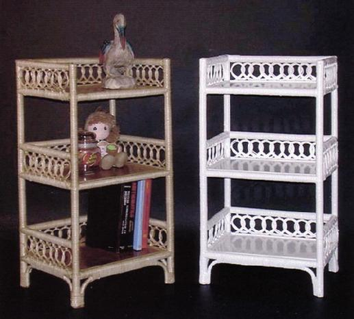 Awesome Wicker Furniture Three Tier Floor Shelf #4412