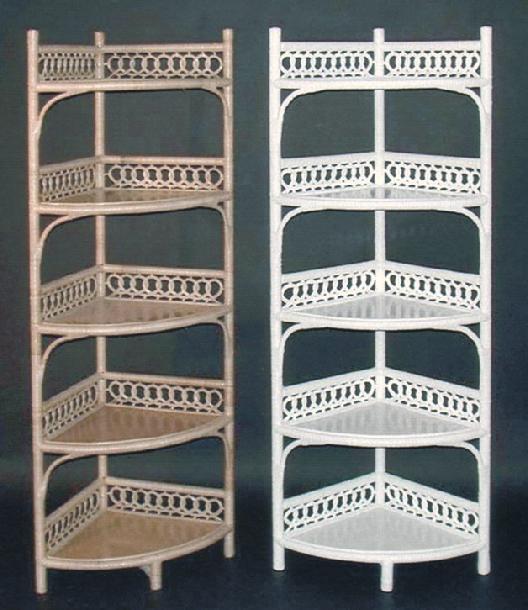 wicker furniture - tall corner stand #4801