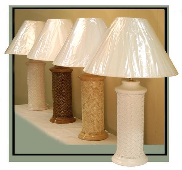Wicker table lamps wicker lamp base wood base wicker table lamp with basketweave design 4526 aloadofball Images