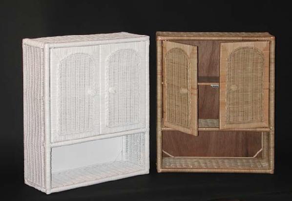Wicker Wall Shelf | Wicker Medicine Cabinet