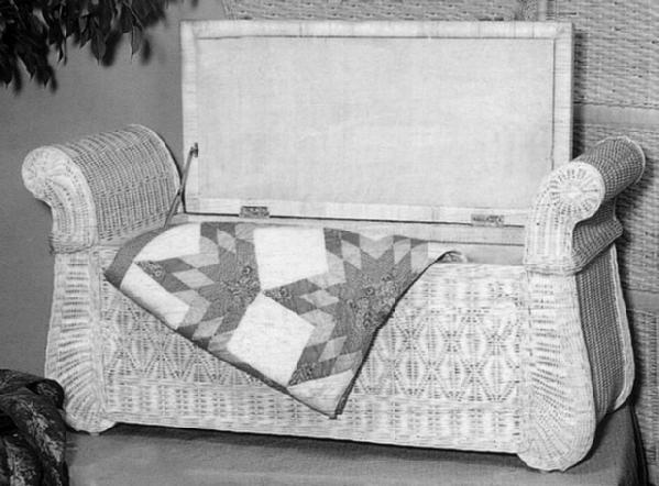Wicker Storage Trunk Wicker Blanket Chest