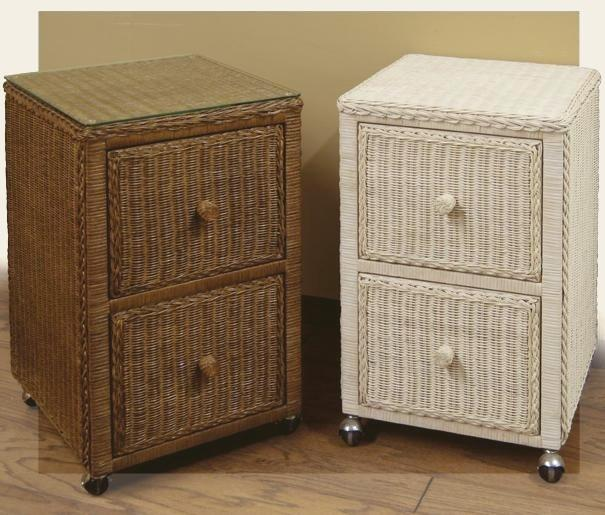 wicker office furniture - file cabinet #4937