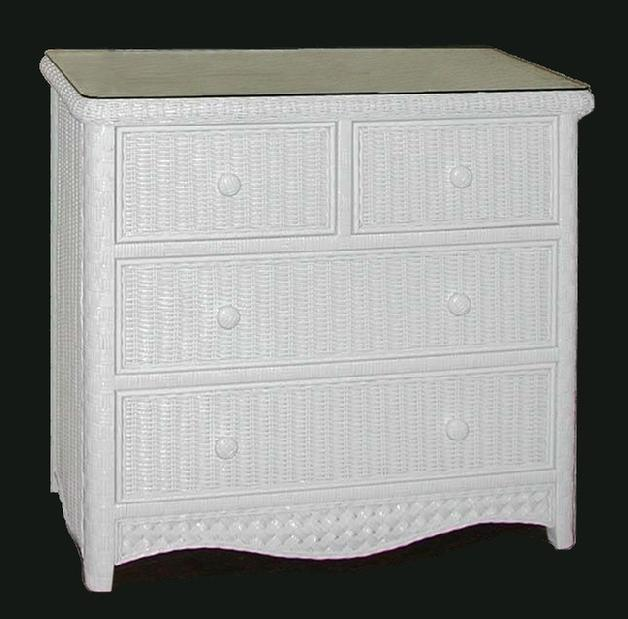 Wicker chest of drawers storage