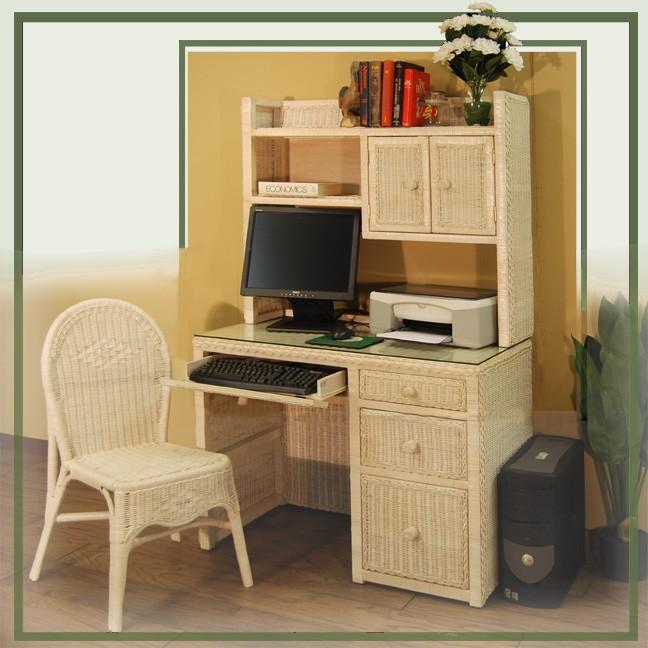 wicker desk & hutch top #4258