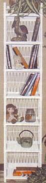 wicker furniture - tall narrow shelf #4306